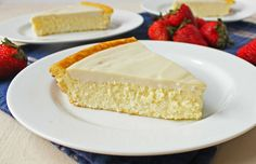 Grandma's Crustless Cheesecake: No crust and no flour makes this a healthier version of the New York Style Cheesecake, but every bit as yummy!