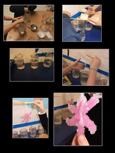 Making borax snowflakes - this  FUN science activity is a tradition in our classroom :)