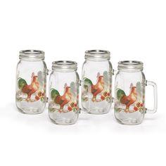 Set of 4 Glass Mason Jars With Lids - Pfaltzgraff