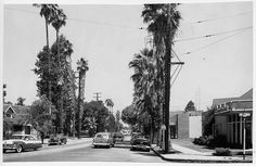 Looking north on Garey at Pearl (1954) by 47specialdeluxe, via Flickr