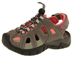 0472bcc95905 Amazon.com  Gola Childrens Grey And Reflex Blue Closed Toe Trekking Sandals  2 M US Little Kid  Shoes