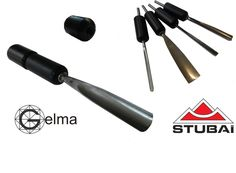 Gelma adaptators for all Stubai wood Gouges Draeyer gouges , Chip carving knives, Draw shaves , Miscellaneous tools , Scorp ,Spoon knives , Carvers mallets ,Carpenter tools , Violin makers tools , Wooden handles, Firmer Chisels , Firmer gouges ,Carpenters Chisel,  Mortise chisels,  Form Firmer Chisel ,wood carving knives , S Form Firmer Chisel ,wood carving knives , relief , carving sets ,beginner wood carving , wood carving mallets ,
