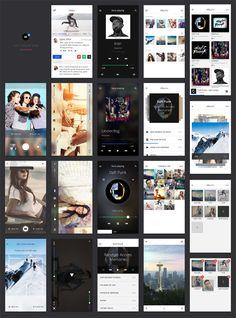 TETHR - Un UI kit complet et gratuit pour designer vos applications mobiles | Blog du Webdesign