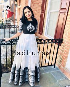 Different types of necklines to try in your kurtis - hobbyjobs Party Wear Indian Dresses, Indian Gowns Dresses, Dress Indian Style, Indian Fashion Dresses, Indian Designer Outfits, Lehenga Designs, Salwar Designs, Kurti Designs Party Wear, Long Dress Design