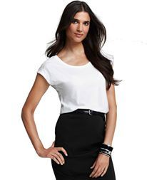 Ann Taylor White Lace Shoulder Tee | AT009  | Php 1,000 | Size: Large  ( Bust 38.5 - 40 inches, Sleeve 31.6 - 32 inches, Waist 31 - 32.5 inches ) | White | Brand New | Free Shipping | To order just visit our page: www.facebook.com/fashionhousesouth