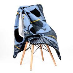 Basotho Blankets - Basotho Tribal Khotso Acrylic – Blue & Yellow