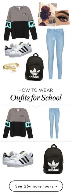 """School"" by melaniekh02 on Polyvore featuring 7 For All Mankind, adidas Originals and Bling Jewelry"