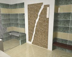 Cracked Wall Design In Bathroom By Pakistans Leading Architectural Firm