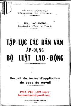 Tập Lục Các Văn Bản Áp Dụng Bộ Luật Lao Động (NXB Sài Gòn 1962) - Nhiều Tác Giả, 240 Trang   Sách Việt Nam Math Equations