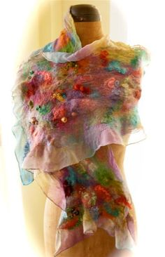 Looking for your next project? You're going to love Nuno Felt Scarf by designer dalis.