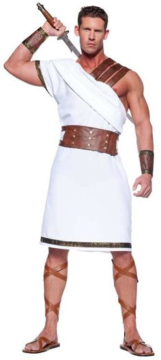 Mens Ancient Greek Warrior Costume - Mr. Costumes