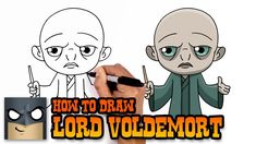 potter harry drawing voldemort draw cartoon lord tutorial cartooning easy drawings vs denis roblox daily characters simple dessin burst valt