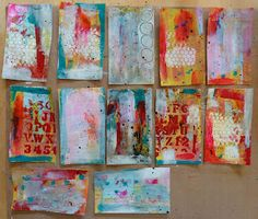 Mixed Media Backgrounds Tutorial. Using 12 identical index cards and less than an hour of your day, you should have a dozen, unique mixed media backgrounds to use in your art