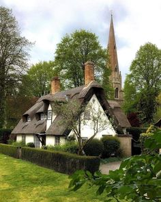 Likes, 53 Comments - Country Living UK Fairytale Cottage, Storybook Cottage, Thatched House, Thatched Roof, Cute Cottage, Cottage Style, Country Living Uk, English Country Cottages, English House