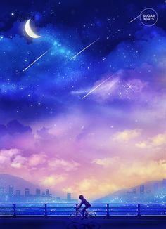 Fantasy Anime Art Postcard: In Search of by SugarmintsArtstore Galaxy Wallpaper, Wallpaper Backgrounds, Main Manga, Image Digital, Digital Art, Galaxy Art, Anime Scenery, Pics Art, Fantasy World