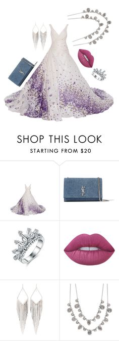 """""""Untitled #209"""" by naomy-nona ❤ liked on Polyvore featuring Yves Saint Laurent, Lime Crime, Jules Smith and Givenchy"""