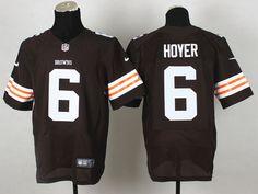 Cleveland Browns 6 Hoyer Brown Elite NFL Jerseys