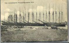 Lavansaaren kauppalaivastoa 1914. Heikkolan kokoelmat, Arvo Heikkola.