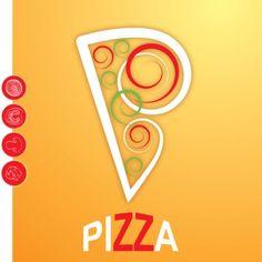 cartoon pizza design free vector