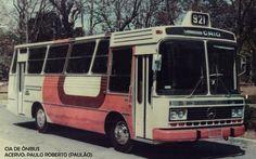 Ônibus em 1980.  Old bus.