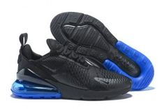 f8c055040b Dazzling Nike Air Max 270 Flyknit Black Blue AH8050 005 Men's Running Shoes  Sneakers Blue Air