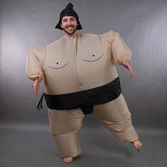 Disfraz de Sumo Hinchable Traje Inflable Luchador Japones para Halloween