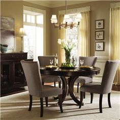 Think I'd like a dining set with fabric chairs for the breakfast area by the family room.  ~Alston (92) by Kincaid Furniture - Wolf Furniture