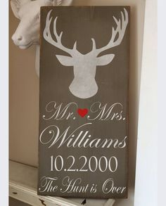 12x24 the hunt is over Personalized Wedding by RyansPlaceHomeDecor