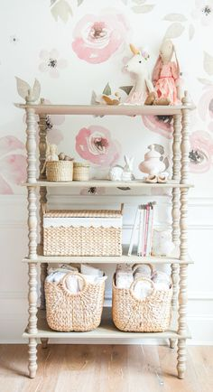 Fall in love with this sweet and girly nursery from Blogger Monika, of Monika Hibbs. Floral accents make this space feel comfortable and relaxed while neutral shades of BEHR Paint give the room a touch of elegance. Find inspiration for your own DIY home makeovers here.