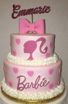 5th Birthday, Birthday Party Themes, Birthday Ideas, Barbie Cake, Barbie Party, Restaurants For Birthdays, Girl Cakes, Party Party, Pastel