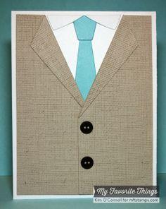 Card for men - MFT suit and tie die - kort til mænd jakke og slips - Karte für Männer Paper Perfect Designs - MFT die-namics #mftstamps