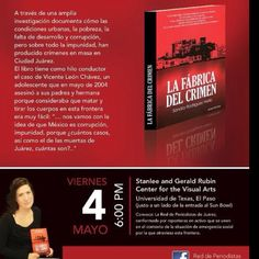 La Red de Periodistas de Juárez presenta el libro La Fábrica del Crimen de nuestra colega Sandra Rodríguez!