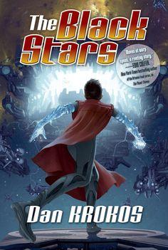 """""""The Black Stars"""" – oryginalna okładka drugiej części """"Złodziej planet"""" Dana Krokosa."""