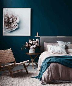 Indigo Wandfarbe Schlafzimmer Farben Trends