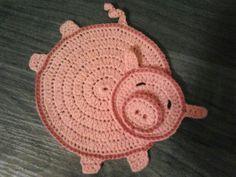 Podkładka pod szklankę świnka
