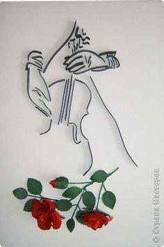 Картина, панно, рисунок Бумагопластика, Квиллинг: Как хороши,прекрасны были розы Бумага. Фото 5