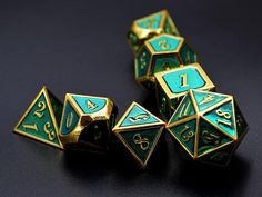 DnD Dice Set Polyhedral Dice Set-Solid Metal Dice D4 D6 D8