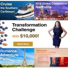Shaklee Transformation: Challenge....Cruise, Paris, $10,000, Nashville...its a Cinch with Shaklee visit www.ttraudt.myshaklee.com