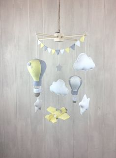 Baby mobile hot air balloon baby mobile by JuniperStreetDesigns