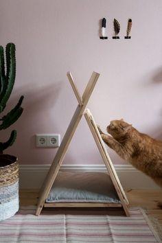 Tutorial für ein DIY Katzentipi mit Kratzmöglicheit - www.craftifair.com