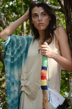 Sundance asymetrical dress in organic hemp jersey. Made to order