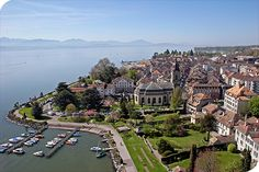 Morges, on the banks of Lake Geneva, Switzerland.  Gorgeous town.