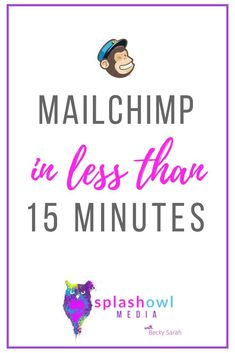 Get started with Mailchimp in 15 minutes or less. Here is my free Mailchimp training.