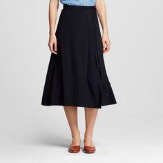 Women's Wrap Skirt Black 10 - Who What Wear