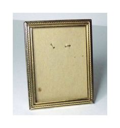 Vintage 3.75x2.75 Brass Picture Frame Metal Vintage Photo Frames, Brass, Unique Jewelry, Handmade Gifts, Metal, Kid Craft Gifts, Craft Gifts, Metals, Costume Jewelry