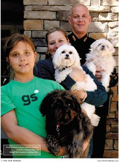 The Gualtieri family, featured in the spring issue of THE NEW BARKER. You may recall the In Dog We Trust rug and the $10,000 raised as a result for Canine Estates Inc. #dog #raisemoney #greatcause #canineestates #rescue