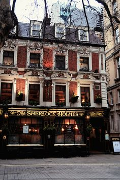 Sherlock Holmes pub, London...  I have eaten awesome dinners here on two different visits..  Such a cool place.