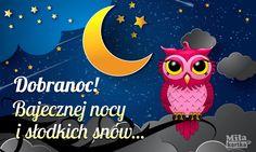Dobranoc i bajecznej nocy  #dobranoc #nadobranoc #kartki #wieczór #noc #pozdrowienia #księżyc #gwiazdy #słodkichsnów #polska #poland #goodnight