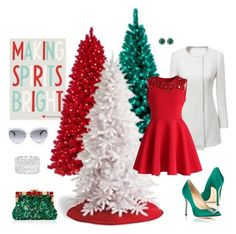 """""""Making Spirits Bright"""" by autumness-1 ❤ liked on Polyvore featuring General Foam, Chicwish, Manolo Blahnik, Dolce&Gabbana, Kate Spade and Ella Carter"""