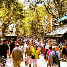 Las Ramblas - Barcelona, Spain So much fun.... Loved Las Ramblas!